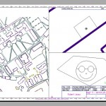 A blueprinting with different layouts and scales depending on the layout.