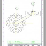 This is a compile drawing existing of two different drawings. One chainwheel and one pedal drawing