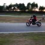 KTM 690 SMC on the race track