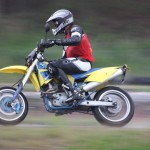 Supermotard racing on rörberg,valbo gocart track