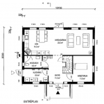 Villa Anneberg blueprint entrence