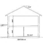 Villa Anneberg blueprint section