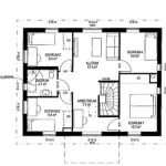 Villa Anneberg blueprint upper floor