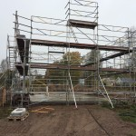 erection of scaffolding