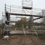 erection of scaffolding