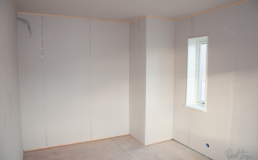 Drywalled rooms are now finished