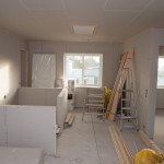 Upstair stair - drywalled