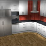 Kitchen 3D rendered picture