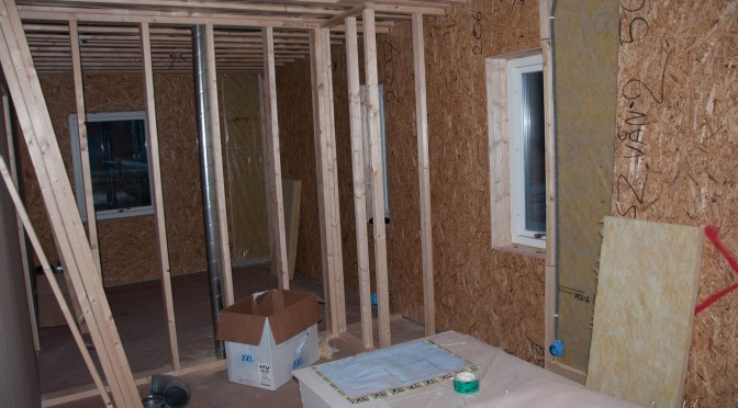 Interior walls and electricity wiring