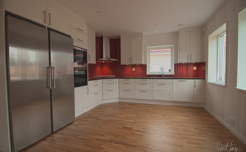 Finished kitchen ready to use