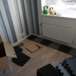 Floor mat taking place in the the training room