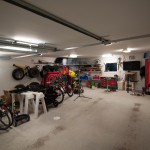Wide eye view inside garage