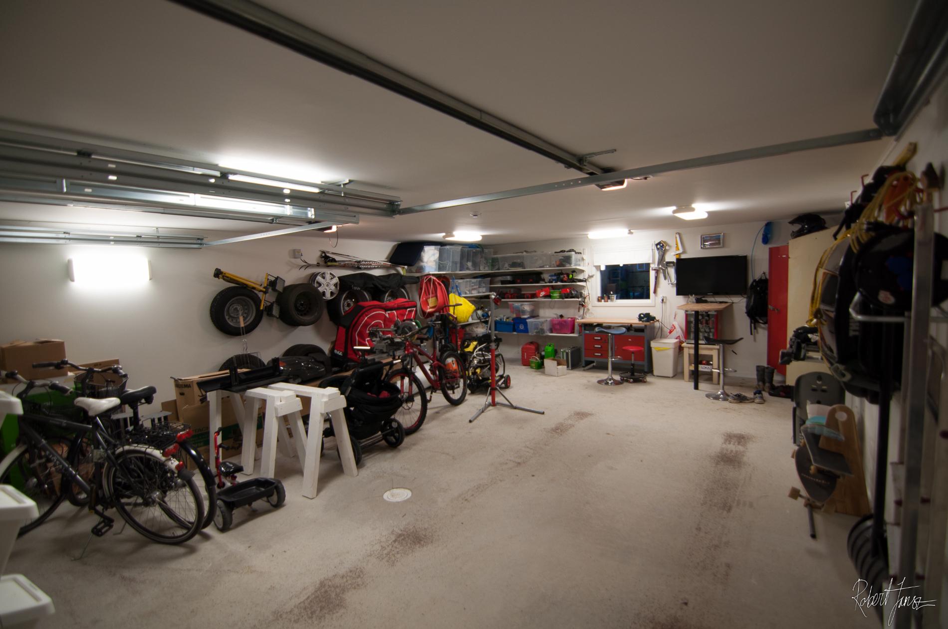 garage inside. Wide Eye View Inside Garage