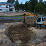 Excavation started for the pool