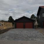 Paver driveway finished