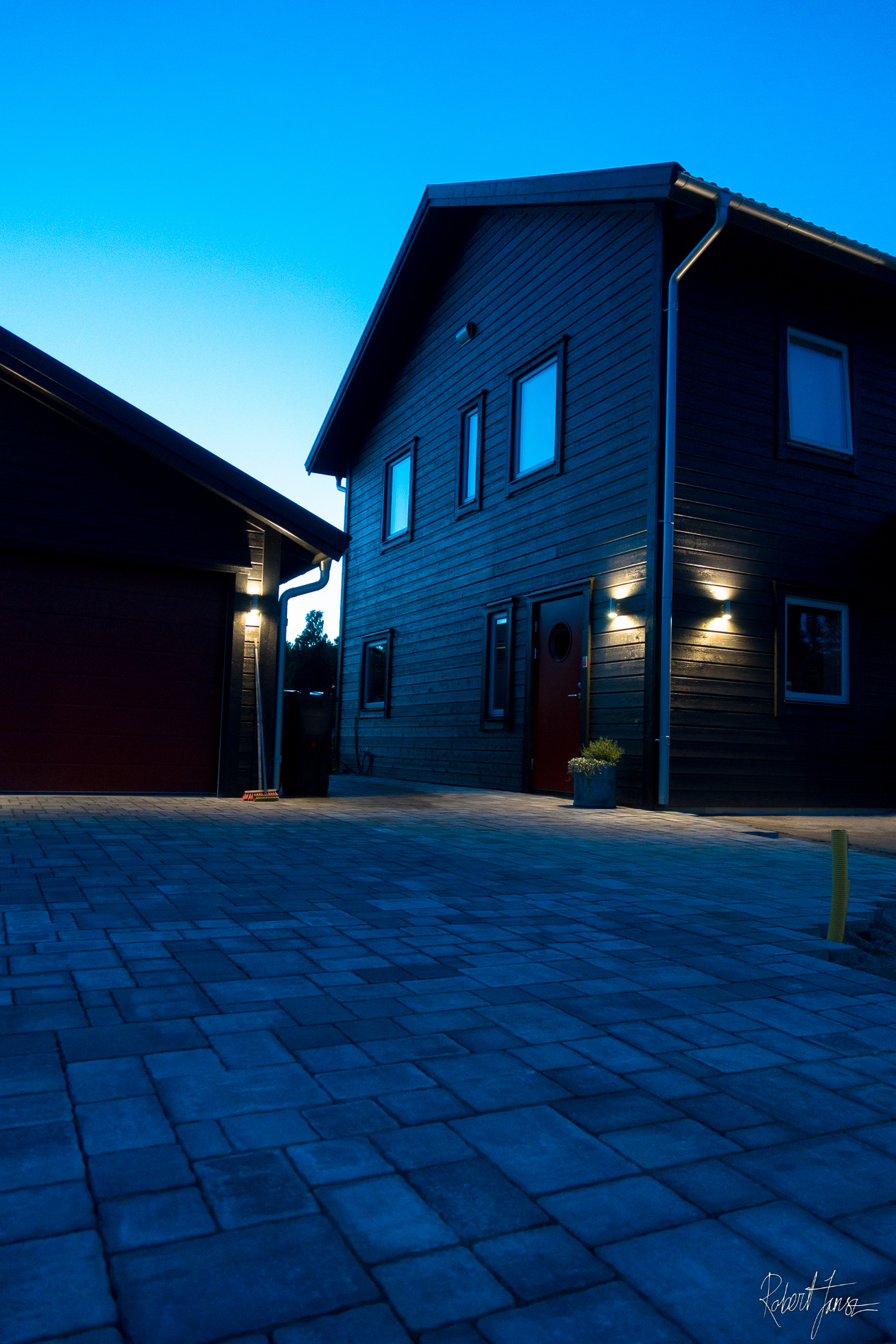 Finished House and garage pavers