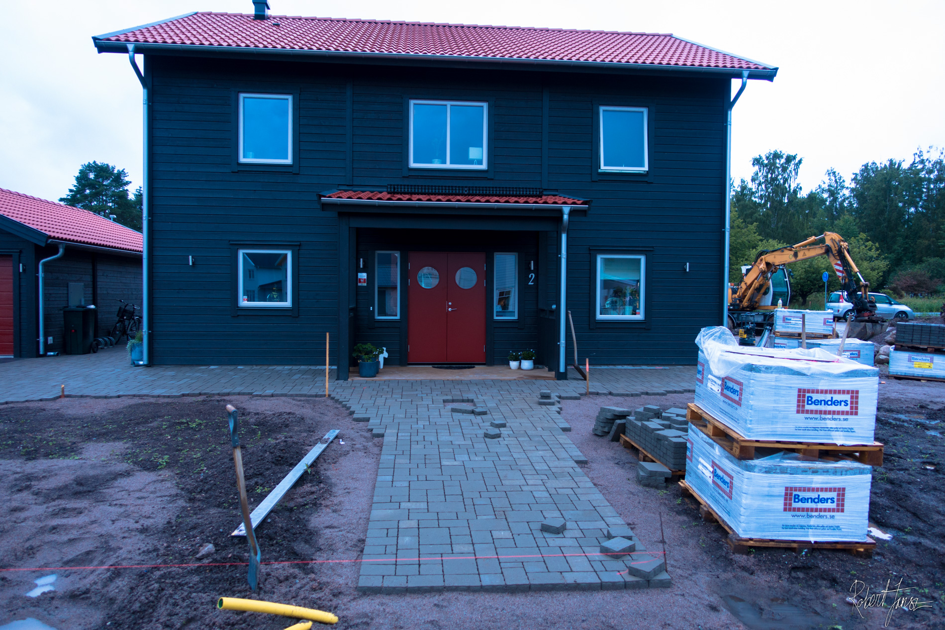 Paving stone in front house