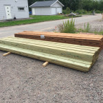 Timber for the patio order from beijerbygg in Linköping